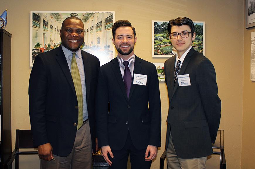 Oklahoma Representative Monroe Nichols (Tulsa), Camden Schinnerer and Wesley Liao